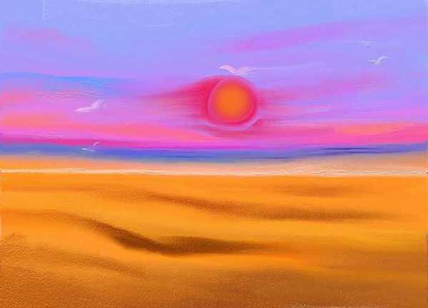 Fantasy Landscape Print - Golden Sand by Patricia High