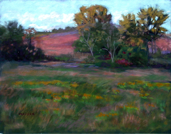 Goldenrod Painting - Goldenrod Afternoon by Julie Mayser