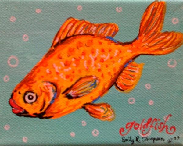 Goldfish Painting by Emily Reynolds Thompson