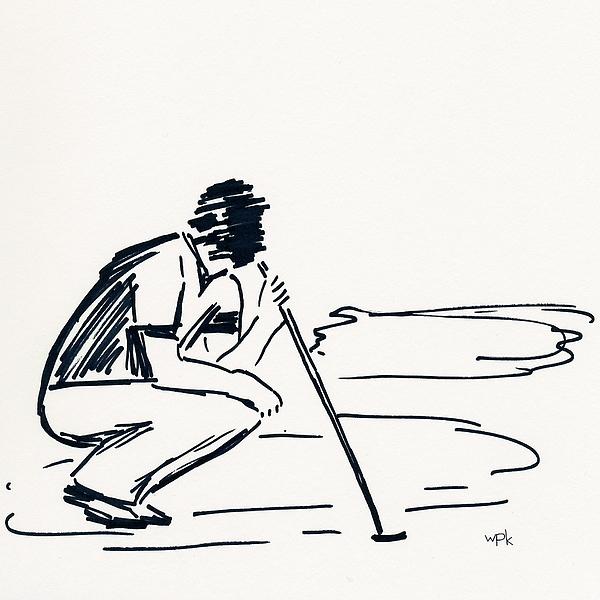 Golfer Drawing - Golf IIi by Winifred Kumpf