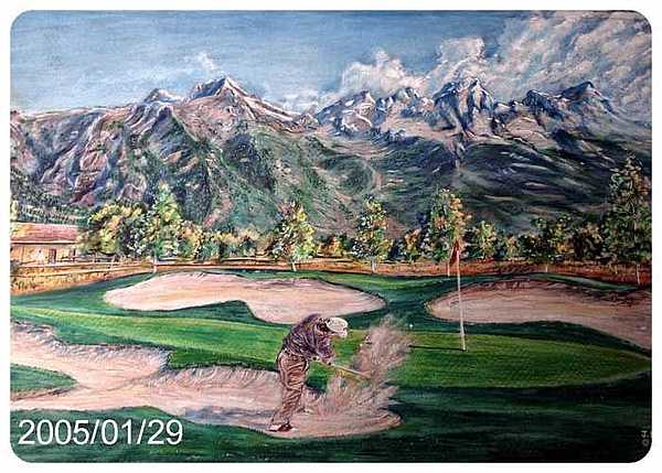 Golf Drawing Drawing - Golf  Montana by James Beal