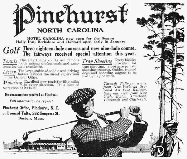 1916 Photograph - Golf: Pinehurst, 1916 by Granger