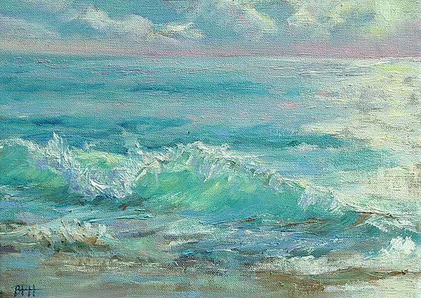 Ocean Painting - Good Morning Surf by Barbara Hageman