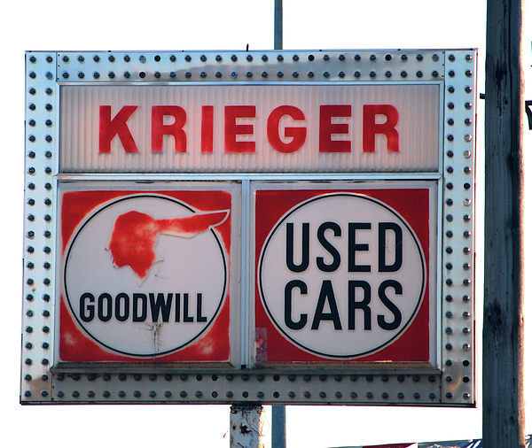 Kreiger Photograph - Goodwill Used Cars by Jame Hayes