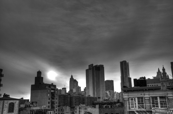 Lower East Side Photograph - Gotham Black And White by Randy Aveille