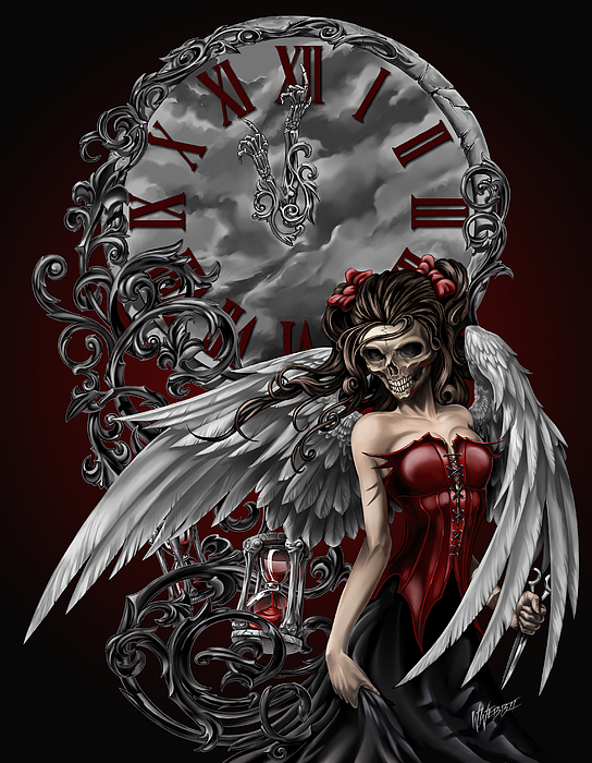 gothic angel digital art by william webb. Black Bedroom Furniture Sets. Home Design Ideas