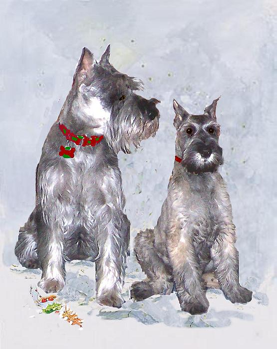 Christmas Painting - Grace And Lucy by Sue Alandar