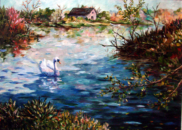 Water Painting - Grace In The Morning by David  Maynard