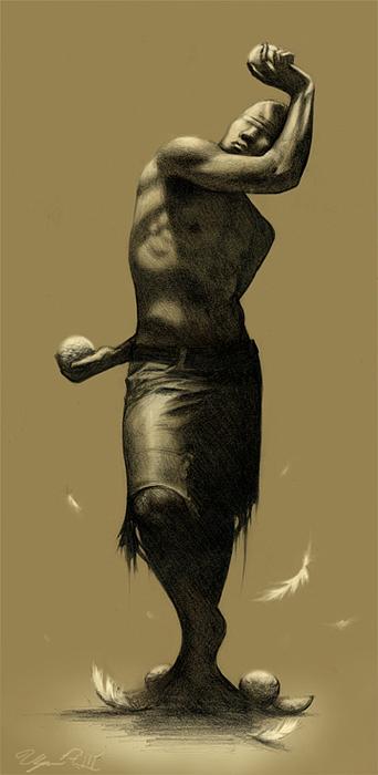 Male Figure Drawing - Grace by Ulysses Albert III