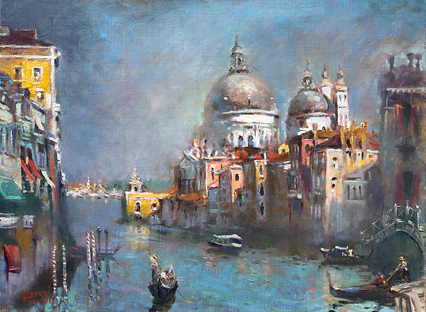 Grand Canal Venice 2 Painting By Ylli Haruni