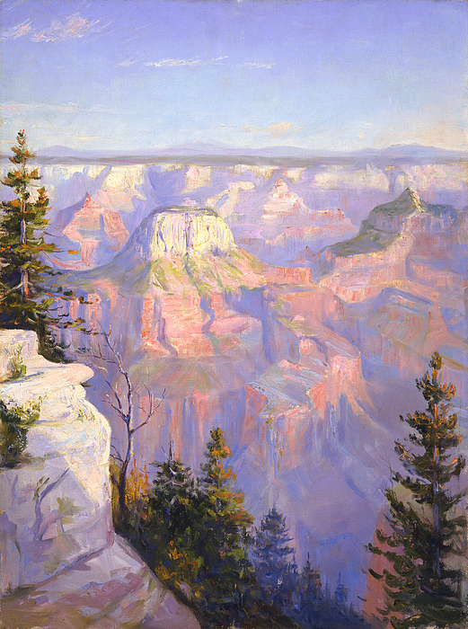 Arizona Painting - Grand Canyon North Rim by Lewis A Ramsey