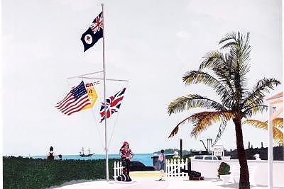 Grand Cayman Pirate Painting by David Ellis