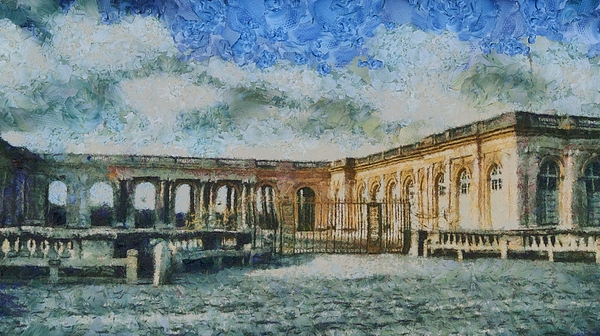 France Painting - Grand Trianon by Aaron Stokes