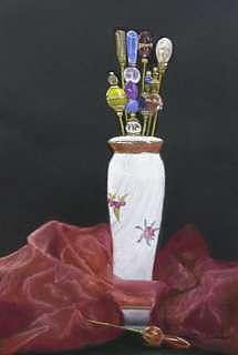 Grandmothres Hat Pins Drawing by Sharon Quarles