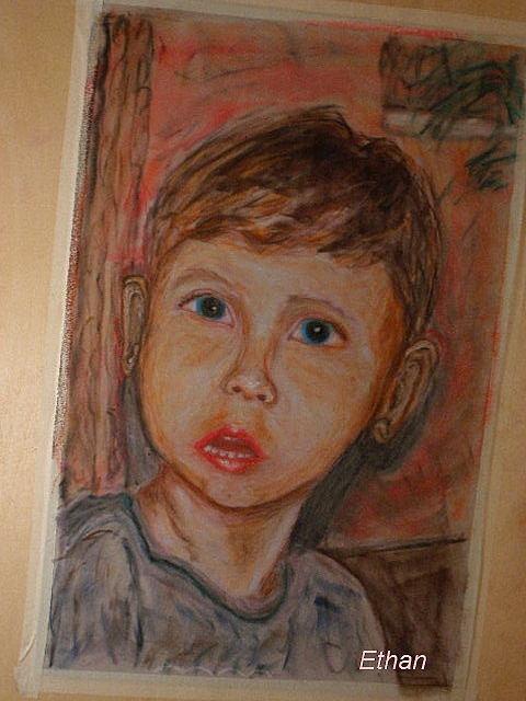 Grandson Painting by Steven Feldman