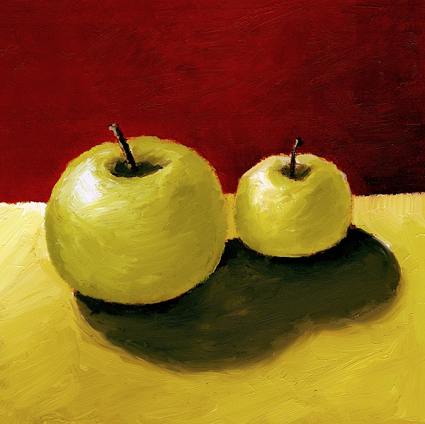 Apple Painting - Granny Smith Apples by Michelle Calkins