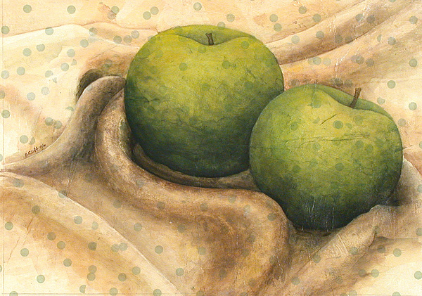 Apples Painting - Granny Smith Apples by Sandy Clift