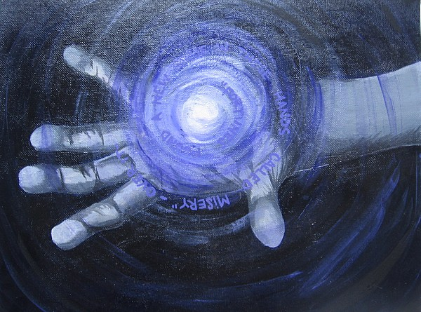 Grasping Despair Painting by Sara Ashley