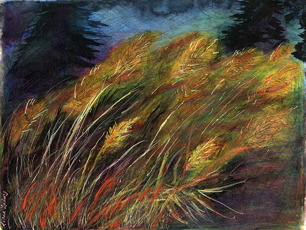 Grass Painting - Grasses by Diana Ludwig