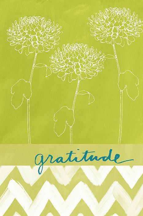 Flower Painting - Gratitude by Linda Woods