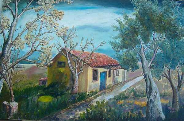 Gray Painting by Fahrettin  Oktay