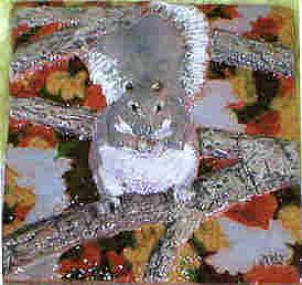 Squirrel Sculpture - Gray Squirrel by Dy Witt