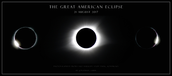 Solar Eclipse Photograph - Great American Eclipse - Triptych by Jonathan Sabin