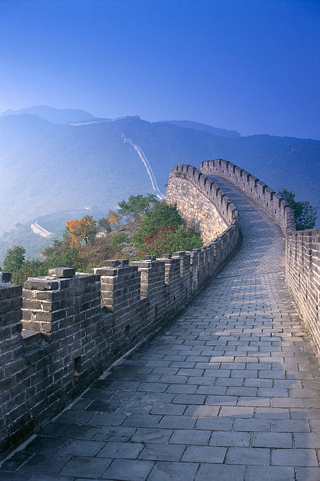 Blue Photograph - Great Wall Of China by Gloria and Richard Maschmeyer - Printscapes