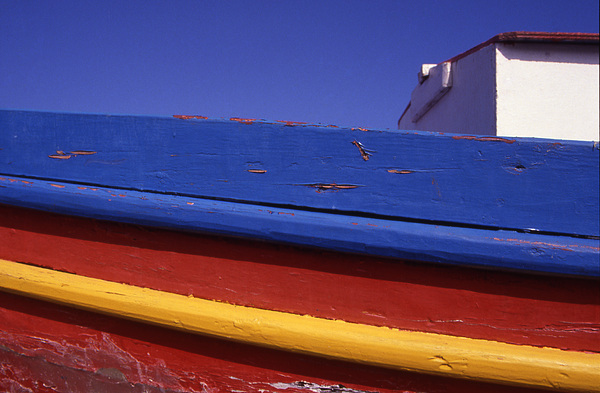 Europe Photograph - Greece. Colorful Fishing Boat by Steve Outram