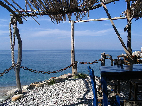Greece Photograph - Greece Skiathos Kastro Taverna by Yvonne Ayoub