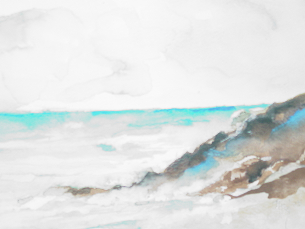 Rocks Painting - Greek Isle by Robin Miller-Bookhout