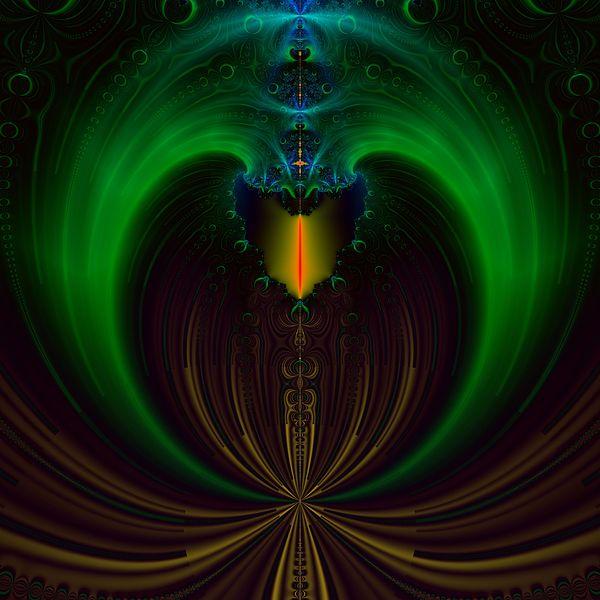 Candle Digital Art - Green Candle by Sfinga Sfinga