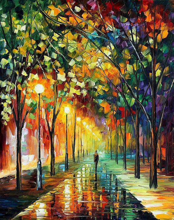 Afremov Painting - Green Dreams by Leonid Afremov