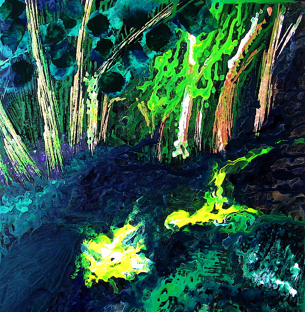 Landscape Painting - Green Forest. by Jess Thorsen