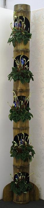 Bamboo Sculpture - Green by Janusz