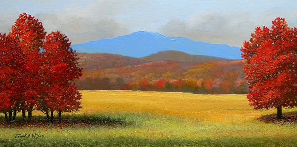 Autumn Painting - Green Mountain Landscape by Frank Wilson - Green Mountain Landscape Painting By Frank Wilson