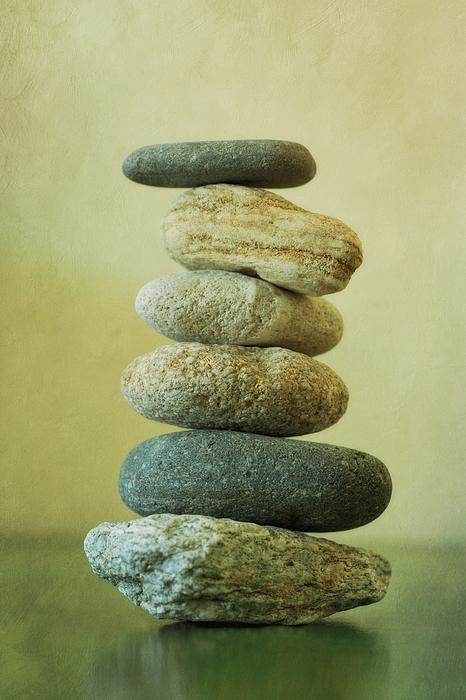 Balance Photograph - Green by Priska Wettstein
