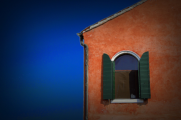 Travel Photograph - Green Shutters by James Zuffoletto