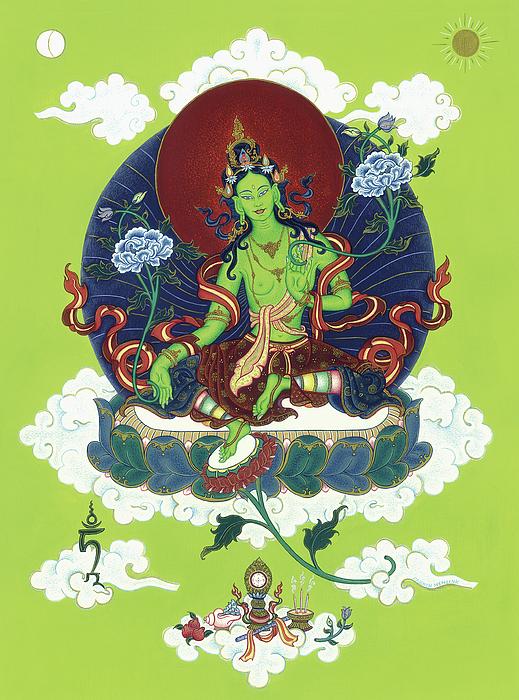 Green Tara Painting - Green Tara by Carmen Mensink