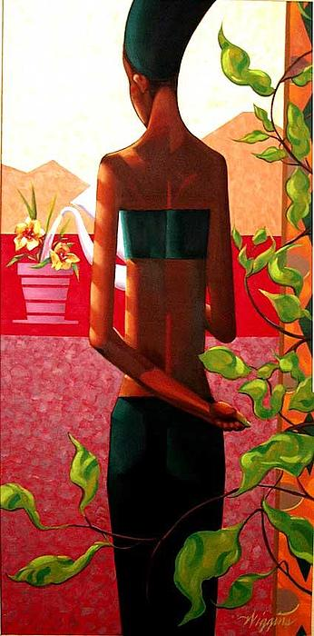Green Thumb Painting by Wendell Wiggins