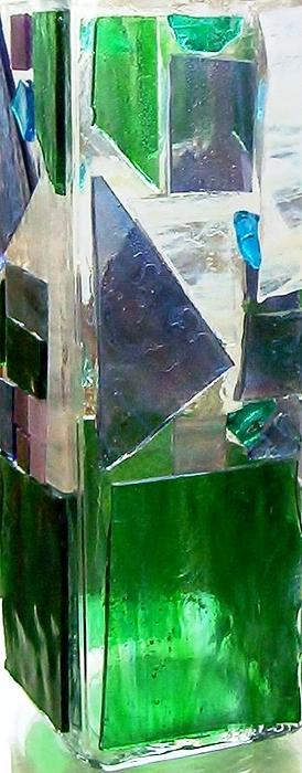 Vase Glass Art - Green Vase by Jamie Frier