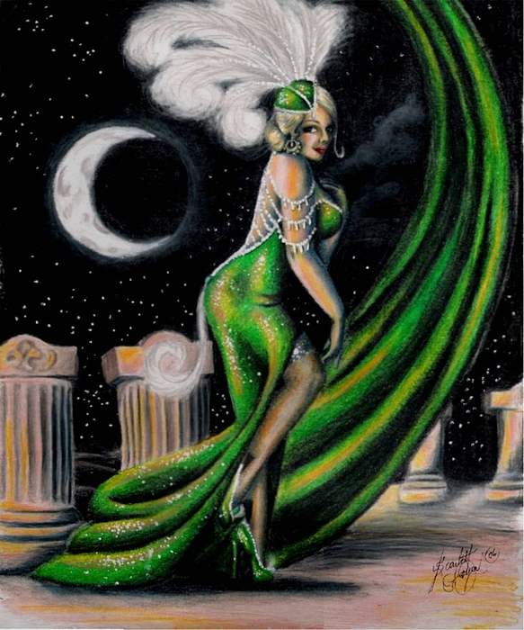 Night Drawing - Green With Envy by Scarlett Royal