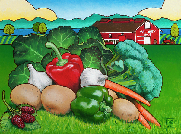 Greenbank Farm Painting - Greenbank Bounty by Stacey Neumiller