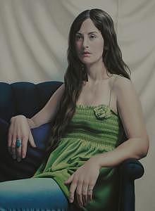 Portrait Painting - Greer Kukuk by Seidai Tamura