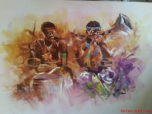 Greetings from africa painting by clement laryea m4hsunfo