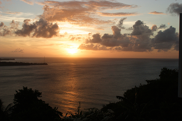 Grenada Photograph - Grenadian Sunset I by Jean Macaluso