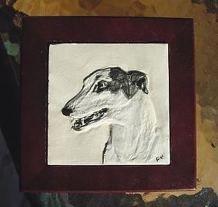 Greyhound Painting - Greyhound Sabra by Phillip Dimor