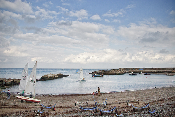 Greystones Photograph - Greystones Harbour With Yachts by Gary Rowe