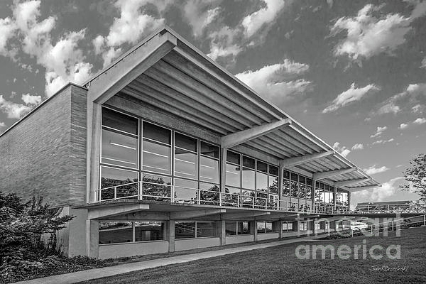 Grinnell College Photograph - Grinnell College Burling Library  by University Icons