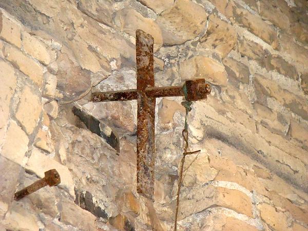 Cross Photograph - Gristmill Cross Two by Ana Villaronga